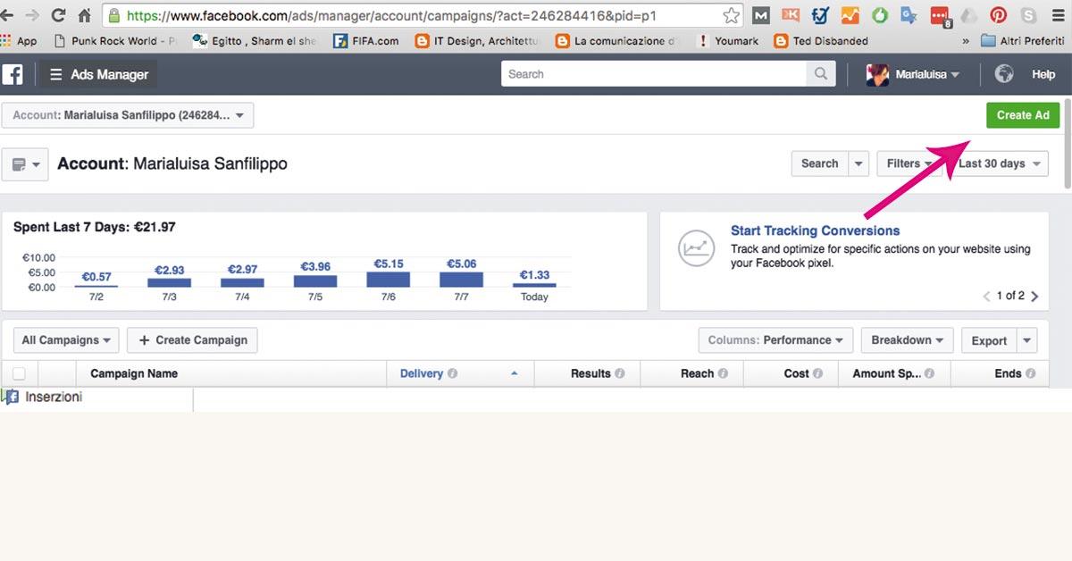 Creare un'inserzione sponsorizzata su Facebook