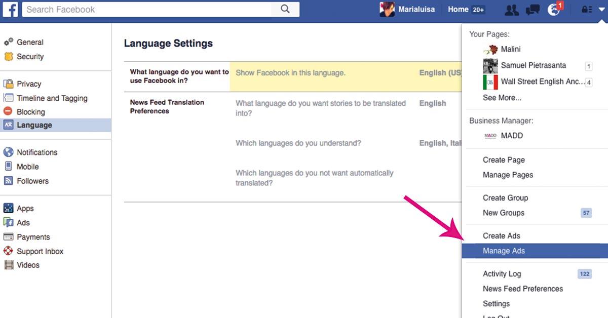 Facebook gestione inserzioni come accedere