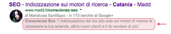 Cos'è la Description di una pagina web?
