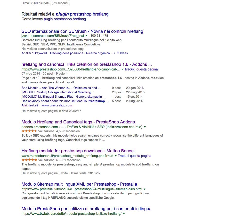 serp hreflang Google