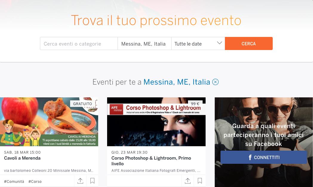 Promuovere un evento online: Eventbrite