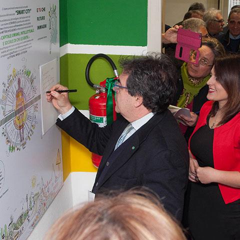 Casaclima evento di inaugurazione con il sindaco